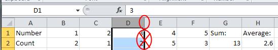 Excel Column Resize